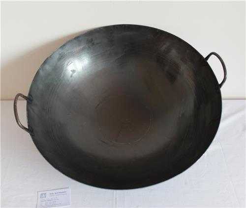 WOK Pfanne Asia Gastronomie rundem Boden Eisen mit 2 Henkel