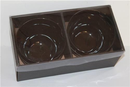 066 B-Ware Suppe Nudel Reis Sushi Schalen 2 er Set Destiny schwarz Matcha Bowl+