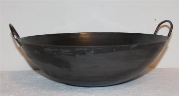 Wok Pfanne Ø 30-40 cm runder Boden China Gastronomie Gasherd Carbon Stahl Aufh