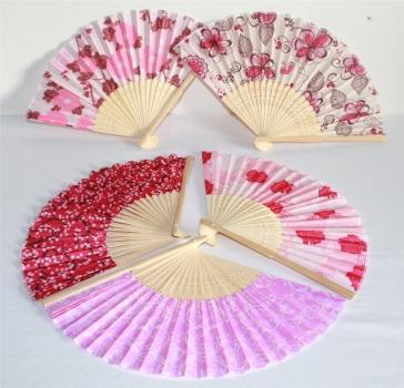 asia art factory 025 10 stk f cher holz handf cher sommerf cher deko blumen rosa motive. Black Bedroom Furniture Sets. Home Design Ideas