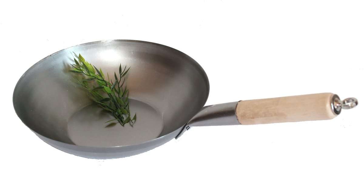 Wokpfanne 30 cm Asiapfanne Gemüsepfanne Wok Induktion Bratpfanne Induktion Gas