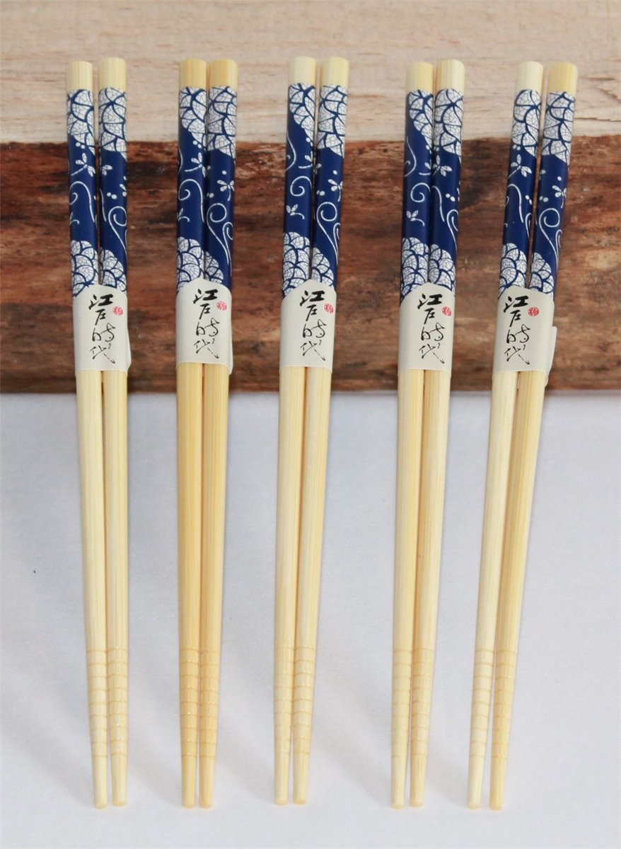 40 Paar Einweg Chinesisch Essstäbchen Chopsticks Stäbchen Bambus Holz J