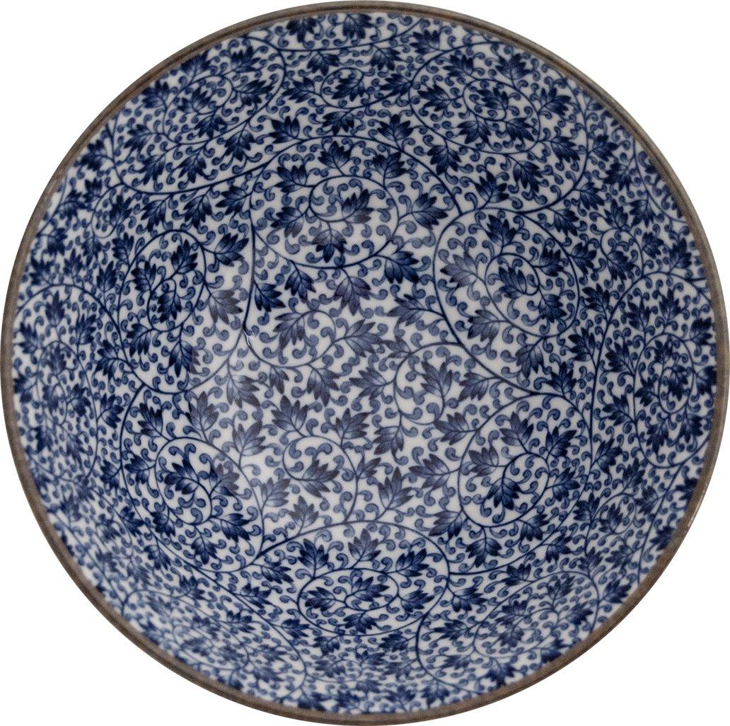Asia Art Factory Japan Reisschalen Schalen 5 Stk Set Dessert Suppe Musli Porzellan Blau O 18 Cm