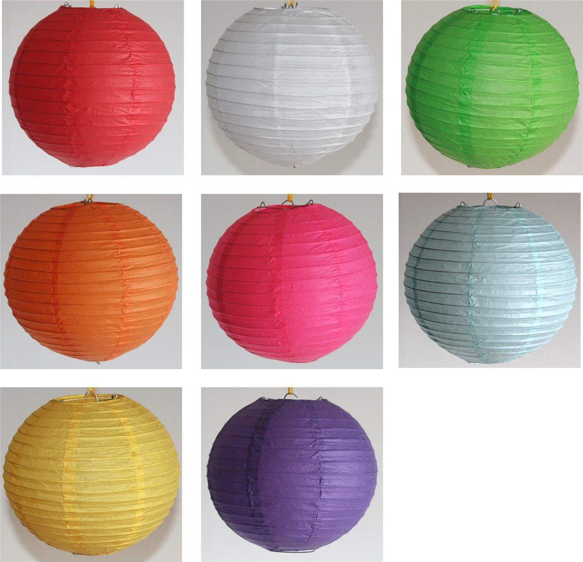 Uberlegen Lampion Papier Rund Ca.30 Cm Ø China Lampe Laterne 8 Farben