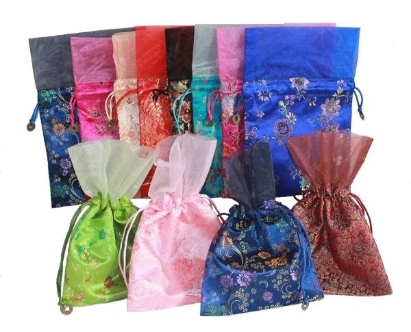 Beutel Geschenke verpacken Ethnische Art Nr.6 3 St.Stoff Säckchen